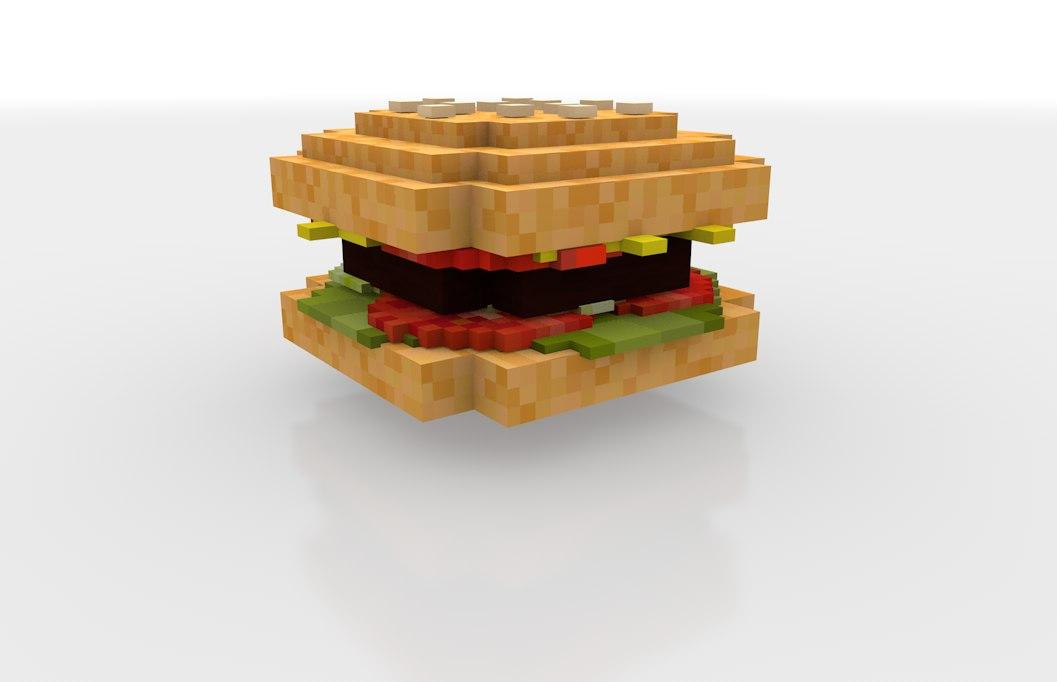 cinema4d minecraft burger