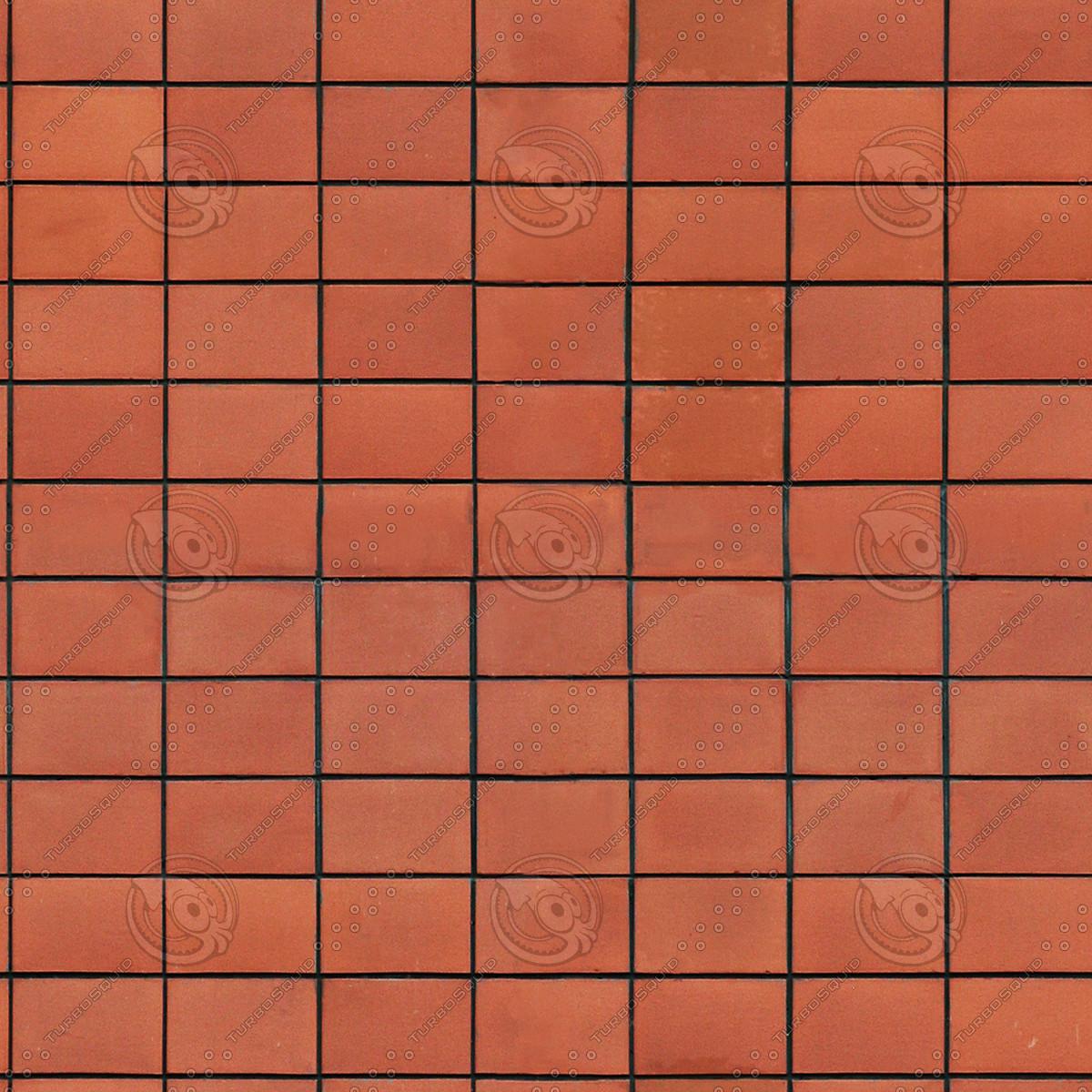 Red floor tile