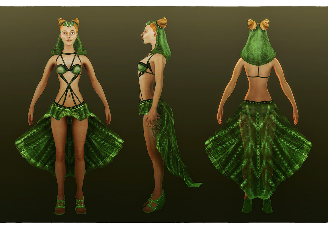 Elf 3d model naked image