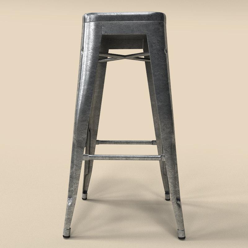 tolix bar stool sketchup