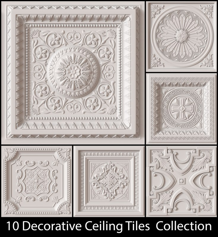 Ceiling tiles decorative