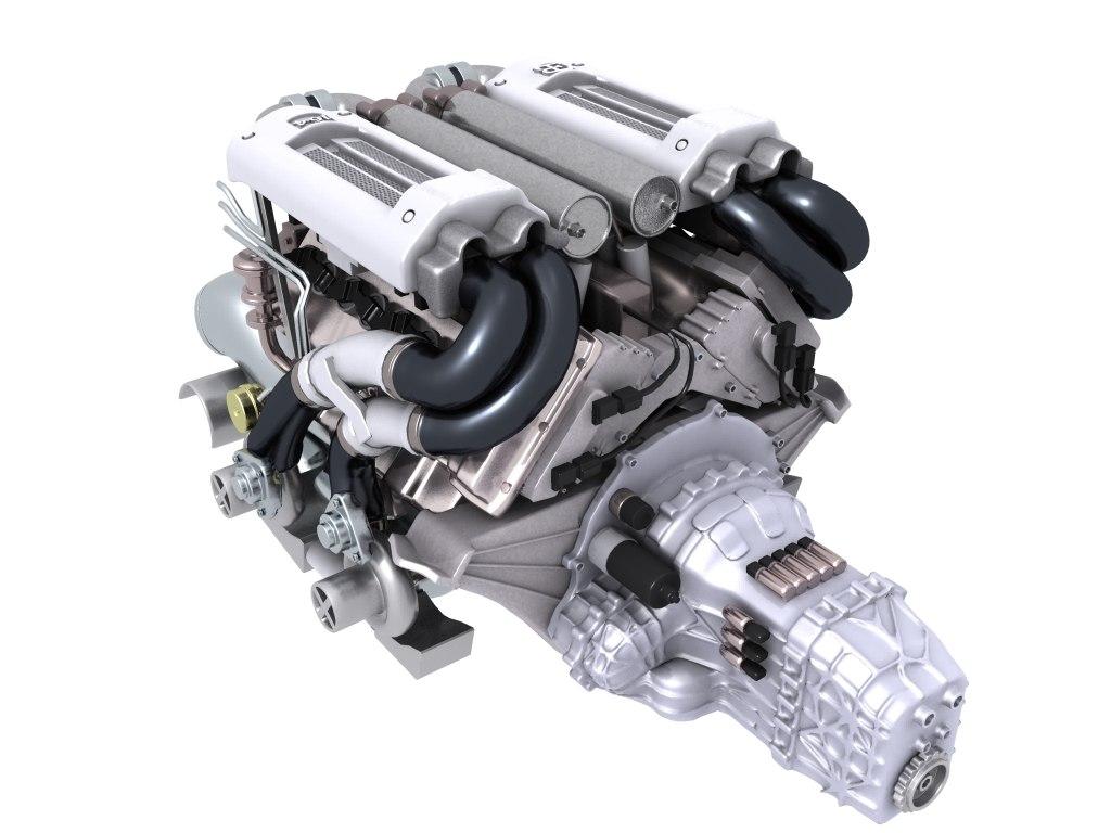 Motor Bugatti Veyron W16 Engine Diagram Model V8