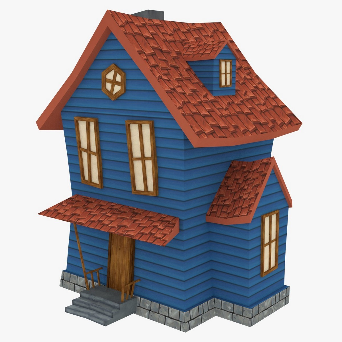 3d cartoon houses