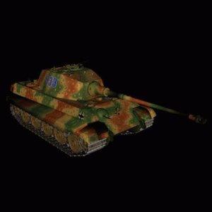 3d model king tiger