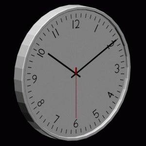 3d 3ds wall clock