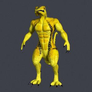 imagination creatures 3d model