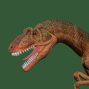 allosaurus dinosaur raptor 3d model