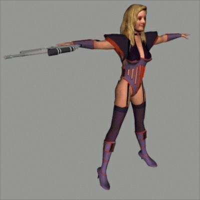human superhero 3d model