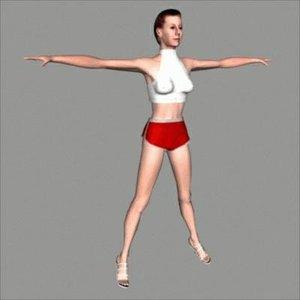 3d model character angela
