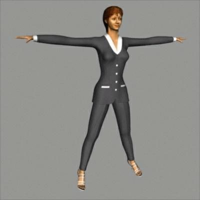 3d character constance model