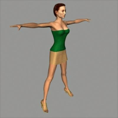 3ds max character melissa