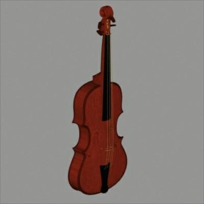 instrument string violin 3d model