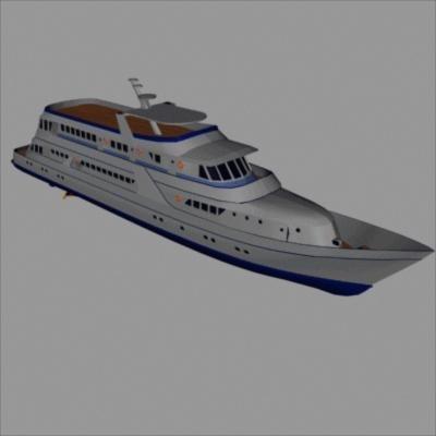 172 luxury yacht 3d model