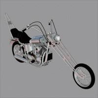 3d model harley davidson chopper motorcycle