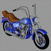 3d model harley davidson tail motorcycle