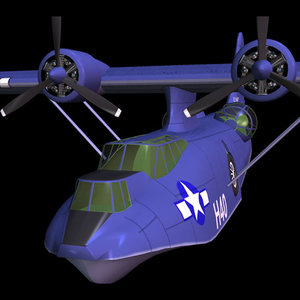 3d model of airplane catalina