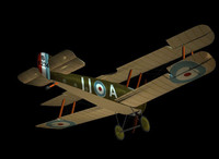 plane fighter biplane 3d