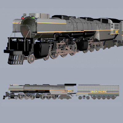 3ds max train engine