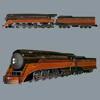 3d model of train engine