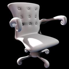 3d model of stylized chair
