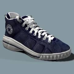 converse shoe 3d model