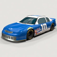 chevy monte carlo racing car 3d model