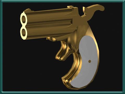 gun derringer 3d model