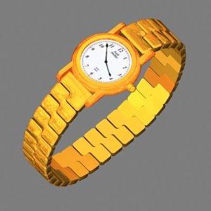 accessories watch 3d model