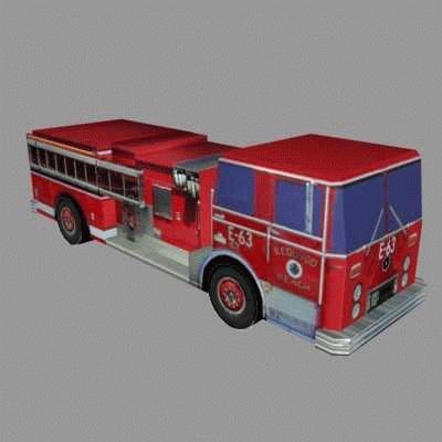 3d model firetruck