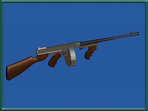 3d model gun tommy machine