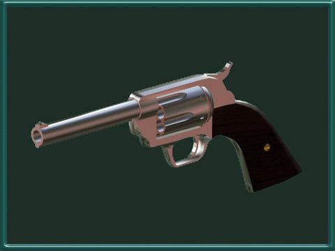 x colt 45 revolver gun