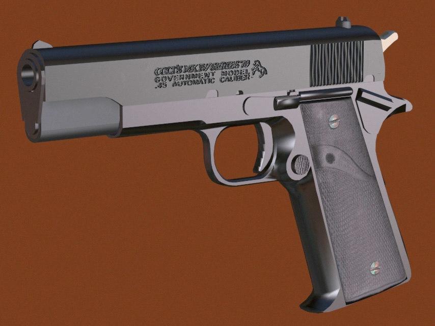 3d model colt 45