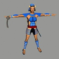 3d model samurai warrior character