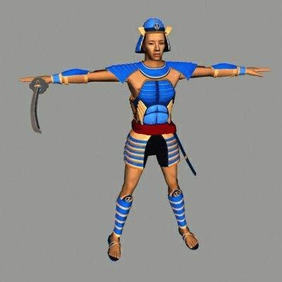 3d model samurai warrior character