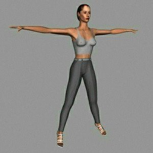 3d character human female model