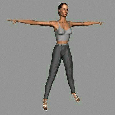 3d character human female model
