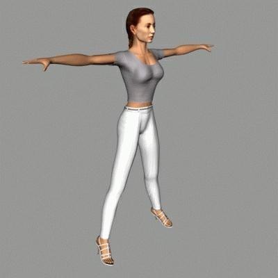 3d model human female