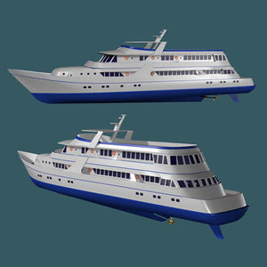 3d boat yacht