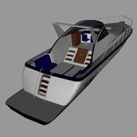 3d motorboat model
