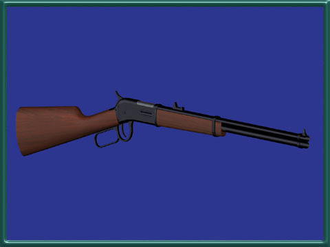 3d model gun rifle carbine