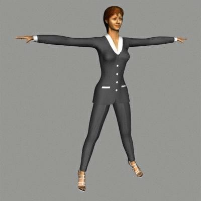 3d human female model