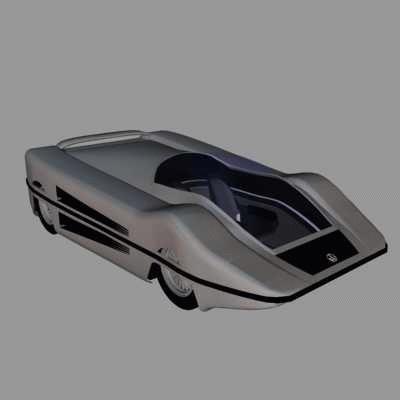 car scifi future 3d max
