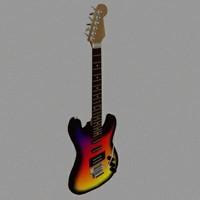 3d model guitar
