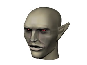 vampire head 3d model