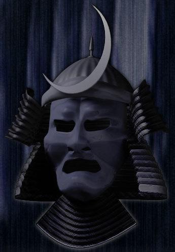 3d model samurai helmet