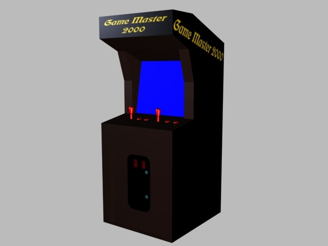 3ds max arcade cabinet