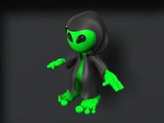 3d model character cloak