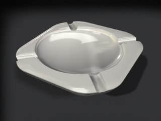 ashtray - 3d 3ds