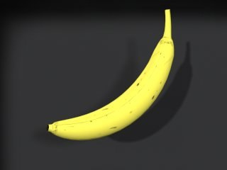 yellow banana 3d model