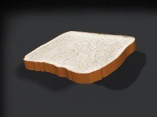 3d model of bread slice